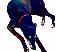 Greyhound Art by Karen Harding