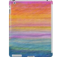 Abstract in Orange and Blue iPad Case/Skin