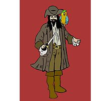 Pirate with parrot Photographic Print