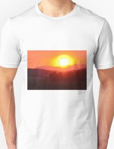 Wildfire Sunset Unisex T-Shirt