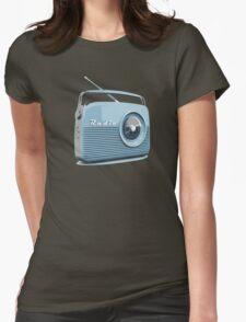 Retro radio Womens Fitted T-Shirt