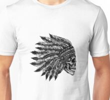 Native Headdress Skull Unisex T-Shirt