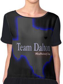 Team Dalton Rapattoni - Sunnyvale, Texas #ImNobodyToo Blue Chiffon Top