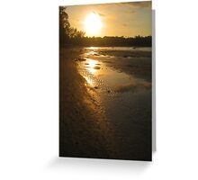Sunset Gold Thai Style Greeting Card