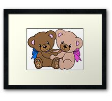 Cute Baby Bears Graphic Framed Print