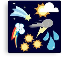 My little Pony - Weather Team Cutie Mark Special Canvas Print