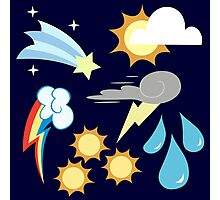 My little Pony - Weather Team Cutie Mark Special Photographic Print