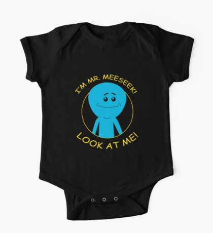 mr. meeseeks, rick and morty, rick, morty, cartoon. One Piece - Short Sleeve