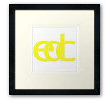 Electronic dance music yellow Framed Print