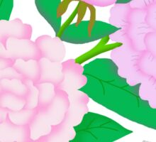 Beautiful Pink Carnation Blossoms Graphic Sticker