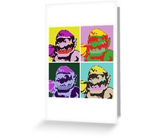 Wario Warhol Greeting Card