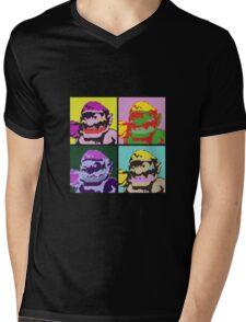 Wario Warhol Mens V-Neck T-Shirt