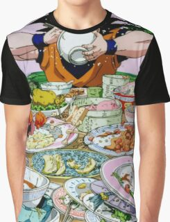 """Goku Eat - Dragon Ball Z"" Graphic T-Shirt"
