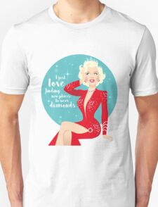 I just love finding new places to wear diamonds T-Shirt