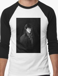Sherlock Holmes portrait Men's Baseball ¾ T-Shirt