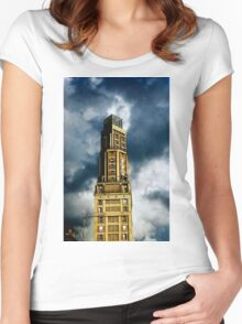 The Perret Tower, Amiens, France (The Candle) Women's Fitted Scoop T-Shirt
