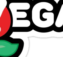 Piranha Plant Powered Mario Vegan Sticker