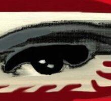 Masked distorted vision Sticker