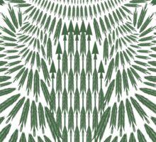 Arrow Owl, forest green variant Sticker