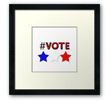 #Vote (Red) Framed Print