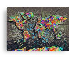 world map abstract Canvas Print