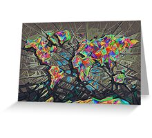 world map abstract Greeting Card
