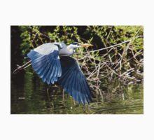 Grey Heron in Flight. Kids Tee