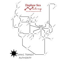 Daphne Sea Route Map Photographic Print