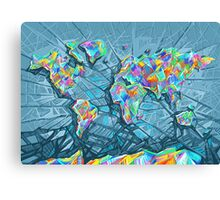 world map abstract 2 Canvas Print