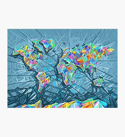 world map abstract 2 Photographic Print