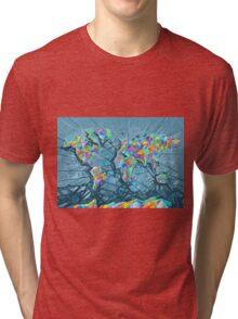 world map abstract 2 Tri-blend T-Shirt