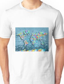 world map abstract 2 Unisex T-Shirt