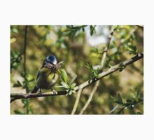 Blue Tit with nesting material 4. Kids Tee