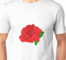 Vibrant Red Rose Graphic Unisex T-Shirt
