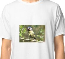 Blue Tit with nesting material 2. Classic T-Shirt
