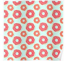 Donut Pattern Poster