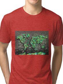 world map abstract 3 Tri-blend T-Shirt