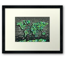 world map abstract 3 Framed Print