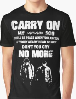 SUPERNATURAL - Carry on my wayward son Graphic T-Shirt