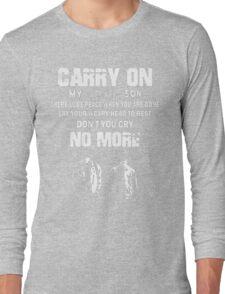 SUPERNATURAL - Carry on my wayward son Long Sleeve T-Shirt