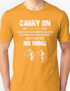 SUPERNATURAL - Carry on my wayward son Unisex T-Shirt