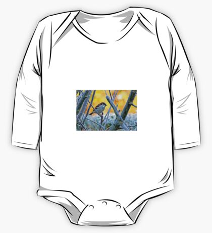 Sparrow in Winter 1. One Piece - Long Sleeve