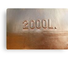 Old copper wine tank fragment Canvas Print