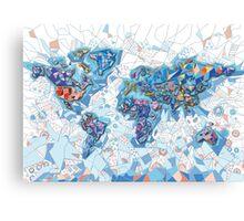 world map geometry  Canvas Print
