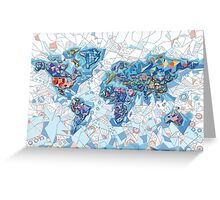 world map geometry  Greeting Card