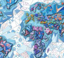 world map geometry  Sticker