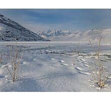 Frozen Deer Creek Reservoir in Utah Photographic Print