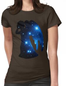 Weeping Angel Galaxy Womens Fitted T-Shirt