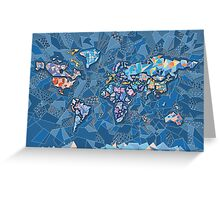 world map geometry 2 Greeting Card
