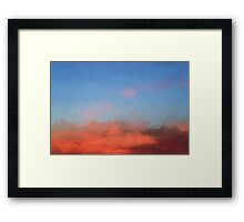 Color Abstraction XLVII - Sunset Framed Print